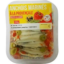 Anchois marinés à la provençale filetés à la main