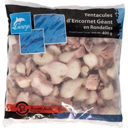 Gineys Tentacules d'encornet géant en rondelles le sachet de 400 g