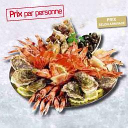 Plateau de crustacés L'ALBATROS déclinaison Langouste, prix par personne