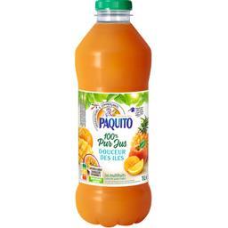 Paquito Jus de fruits 100% pur jus douceur des îles la bouteille de 1 l
