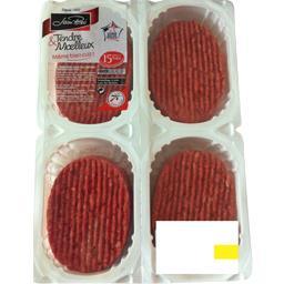 Steak, viande hachée pur bœuf 15% MG