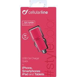 Micro chargeur allume cigare USB 2A rose