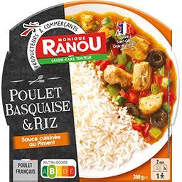 Poulet Basquaise et son riz sauce cuisinée au piment