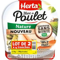 Herta Le Bon Poulet - blanc de poulet nature