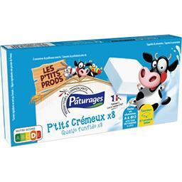 Fromage blanc P'tit Crémeux, la boite de 8 portions - 160 g,PATURAGES,la boite de 8 portions - 160 g