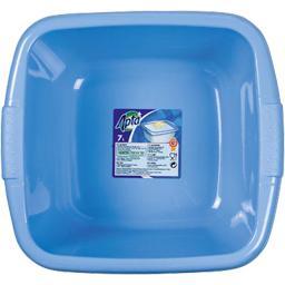 Bassine carrée 7l gris ou bleu