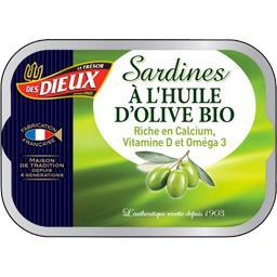 Les Dieux Sardines à l'huile d'olive BIO