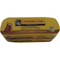 Capitaine Cook Filets de maquereaux préparés à la main les 2 boites de 185 g