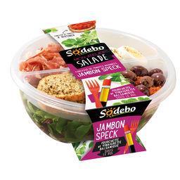 Salade jambon speck tomates et olives marinées