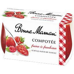 Compotée fraises & framboises subtile fleur de surea...