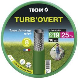 Tuyau d'arrosage Turb'O vert diam 19mm/25 m