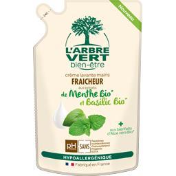 Crème lavante mains fraîcheur menthe & basilic BIO