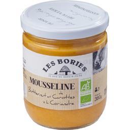Les Bories Mousseline de butternut et carottes à la coriandre B... le bocal de 380 g