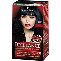 Brillance - Coloration permanente intense Noir Bleut...