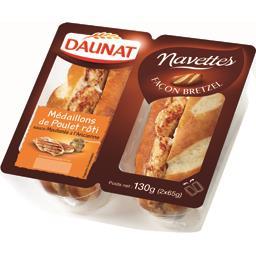 Sandwich médaillons de poulet rôti moutarde à l'ancienne