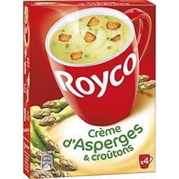Les Minutes Soup - Crème d'asperges et croûtons