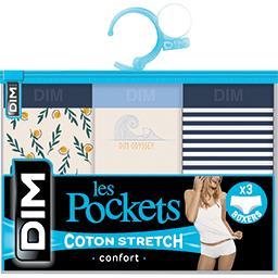 Les Pockets - Boxers X2 T 36/38 et boxers X3 T 36/38