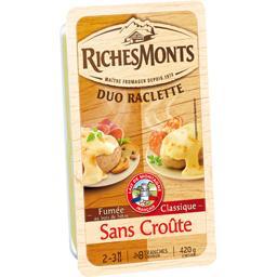 Riches Monts Raclette tranchettes sans croute nature & fumé