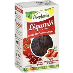 Légumiô - Pâtes Pipe Rigate haricots rouges & tomates