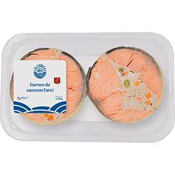 Les Entrées de la Mer Darnes de saumon aux petits légumes