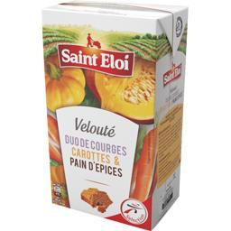 Velouté duo de courges carottes & pain d'épices