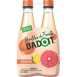 Badoit Eau gazeuse Bulles de Fruits pamplemousse citron