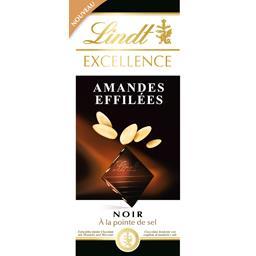 Lindt Excellence - Chocolat noir amandes effilées à la poi... la tablette de 100 g