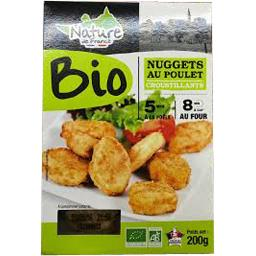 Nuggets de poulet BIO croustillants