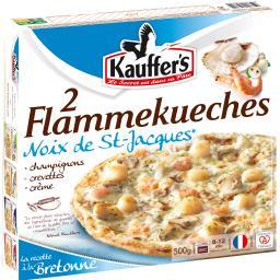 Flammekueches noix de St-Jacques