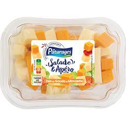 Salade & Apéro - Dés de gouda & mimolette
