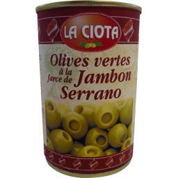 Olives vertes à la farce de jambon Serrano