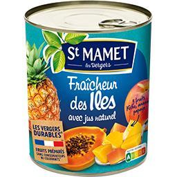 Mélange de pêche, ananas, papaye Fraîcheur des Iles