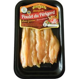 Emincé de poulet fermier du Périgord jaune Label Rouge