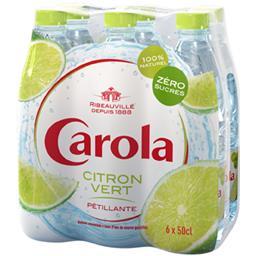 Boisson pétillante citron vert zéro sucres