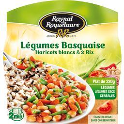 Légumes basquaise haricots blancs et 2 riz