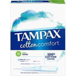 Tampons Cotton Comfort Super avec applicateur