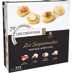 Les Créations Les surprenantes tartines apéritives la boite de 16 - 256 g