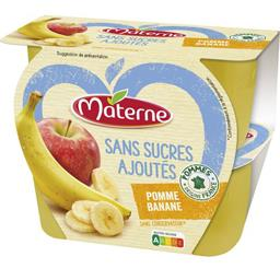 Sans Sucres Ajoutés - Purée pomme banane