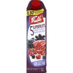 Jus 5 Superfruits, grenade/cranberry/myrtille/Cassis/raisin