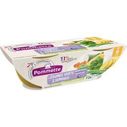 Légumes verts & semoule, dès 6 mois