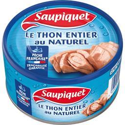 Saupiquet Le Thon entier au naturel la boite de 140 g net égoutté