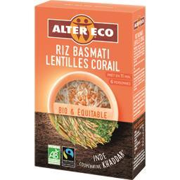 Alter Eco Riz basmati lentilles corail BIO le paquet de 400 g