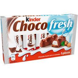 Choco Fresh - Barres chocolatées fourrées lait et noisettes