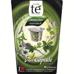 Capsule de thé vert naturel et feuilles de menthe - green tea marrakech