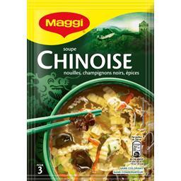 Soupe chinoise, nouille champignons noirs épices