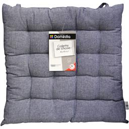 Galette de chaise 40x40 cm chambray