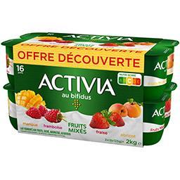 Danone Danone Activia - Lait fermenté aux fruits mixés