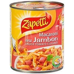 Macaroni au jambon sauce tomate cuisinée