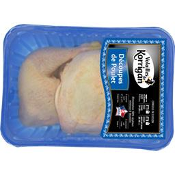 Cuisses de poulet avec partie de dos