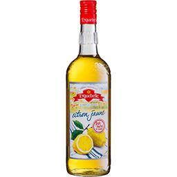 Le sirop de l'artisan, citron jaune, sucre de canne